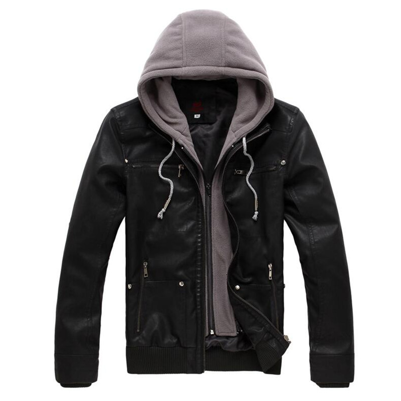 Popular Hoodie Leather Jacket-Buy Cheap Hoodie Leather Jacket lots ...