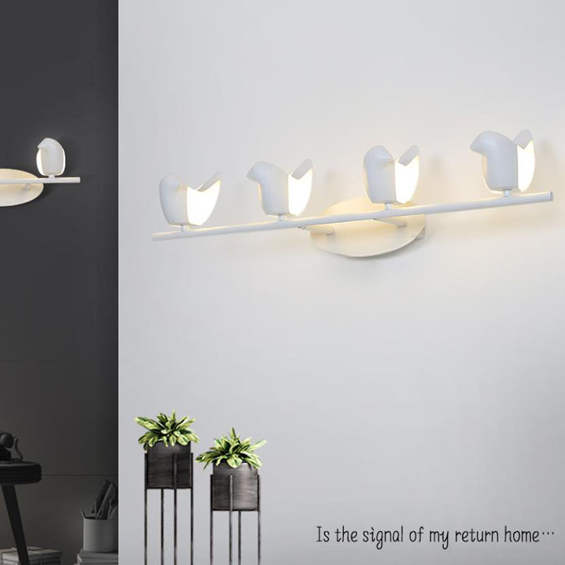 European bird led wall lamp modern staircase aisle led lights background cafe bedside bedroom living room wall light bra