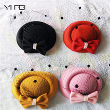 Winter Embroidered Veil cotton Felt Pillbox Hats for Formal Cocktail Party Wedding Hats Dress Fedoras Fascinator Hats for Women цена