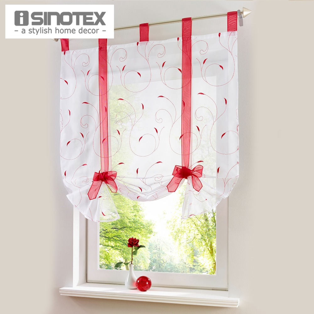 Embroidered Roman Curtain Home Wave European Sching Colors Living Room Balcony Voile Panel 1pcs China