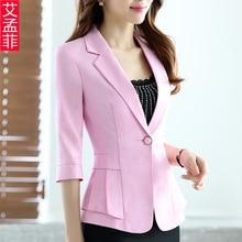 2016 Summer Business Suit Woman Casual Slim Suit Blazer Jacket Coat Fifth Sleeve New Office Outwear Plus Size Slim Office Ladies