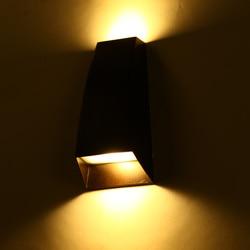Nowoczesna lampa zewnętrzna LED 2W światło werandy fashion garden IP54 dla artystyczny dom dekoracja podwójna ściana kinkiet światło oprawa 1055