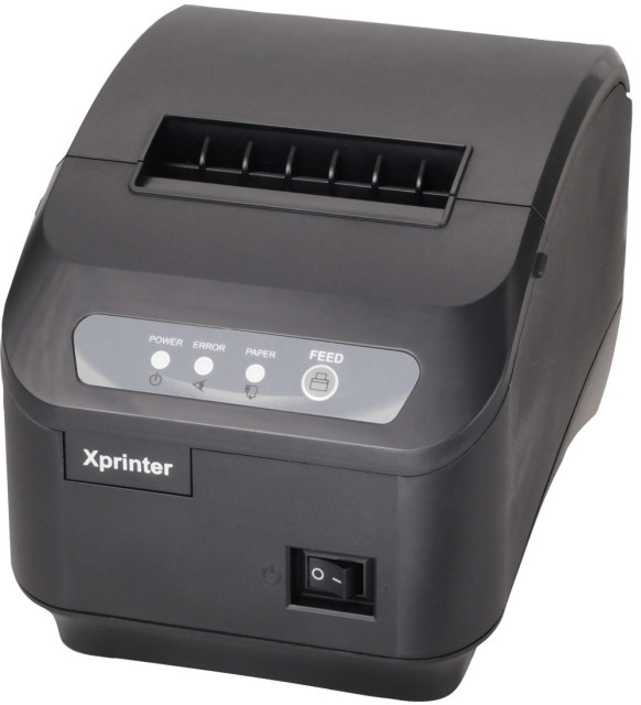 pos printer High quality 80mm thermal receipt printer XP-200II automatic cutting USB+Serial port/Ethernet ports 200 mm / s
