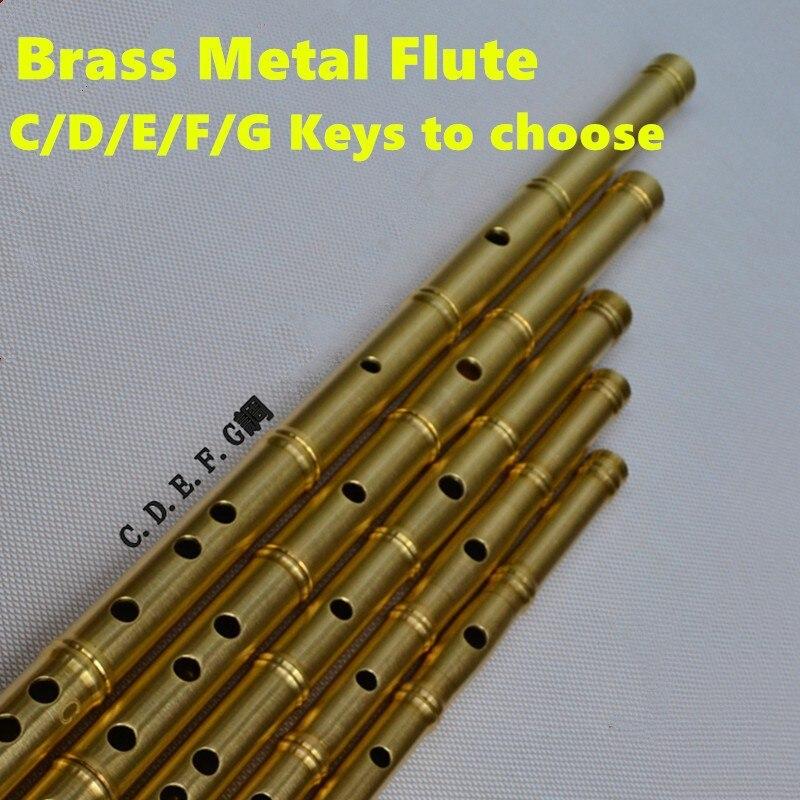 Металлическая флейта DIZI ключ C D E F G Flauta сгущенная латунная флейта Dizi Профессиональный музыкальный инструмент Flauta оружие самообороны
