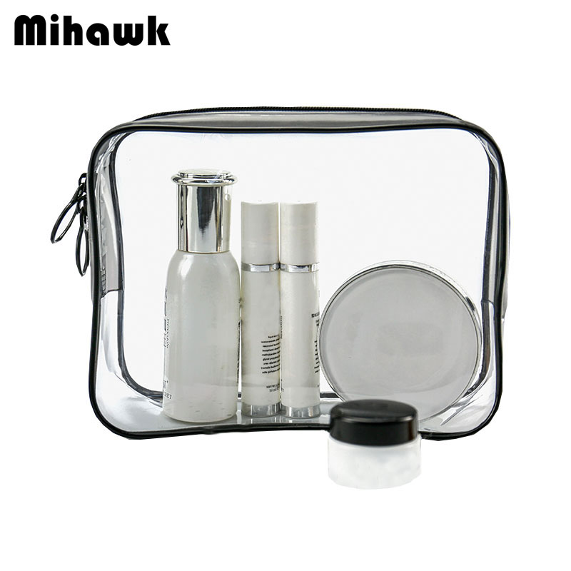 Mihawk PVC Transparent Cosmetic Bag Waterproof Beauty Clear Pouch Makeup Storage Case Organizer Accessories Supplies Products цена