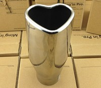 YZ Universal Exhaust Tailpipe love heart Muffler import Stainless Steel 304 End exhaust pipe protect styling