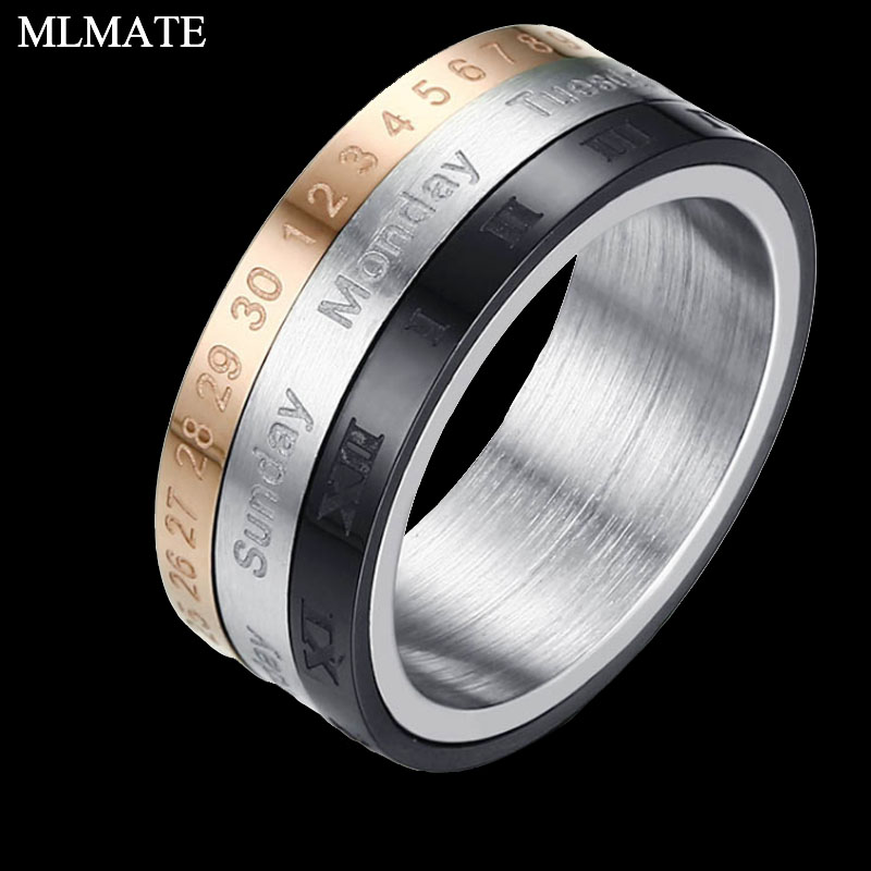 Special Section Tyme Spinner Roman Numerals Stainless Steel Rings For Women Wedding Ring Mens Rings Jewelry Jewelry & Accessories