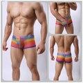 2016 Nueva diversión ropa interior sexy hombres de la moda hilados Red transparente sexy ultrafinas respirables del boxeador de camuflaje pantalones gay ropa interior