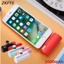 ZKFYS 2000mAh Portable Mini Power Bank External Battery Pack For iPhone Xiaomi Samsung HUAWEI Fast Charger Powerbank