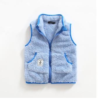 Kid's Contrast Trim Plush Vest 2