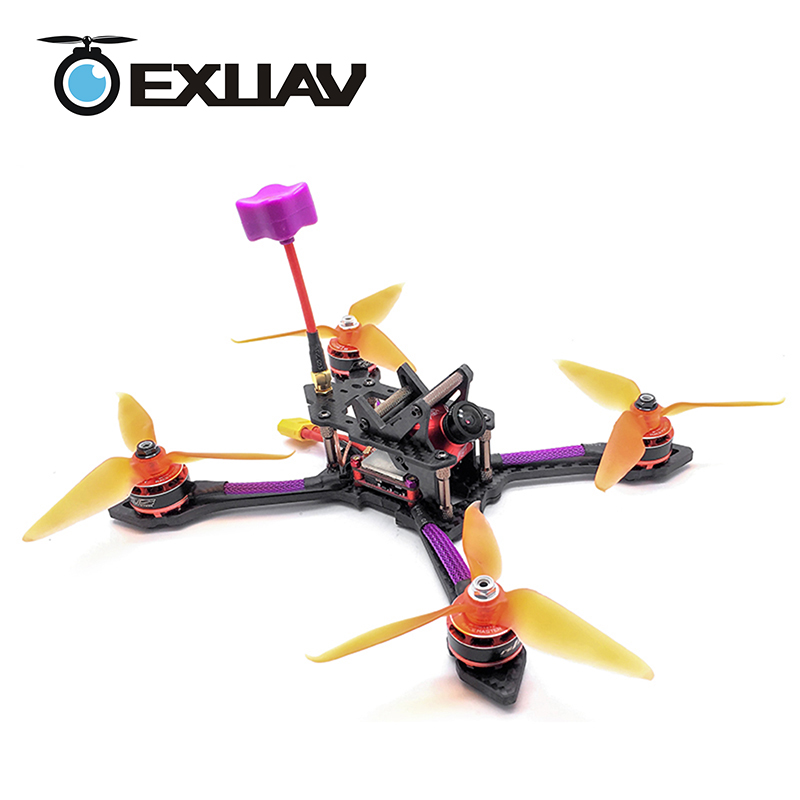 EXUAV GEPRC TSX5 Viper FPV Racing Drone Packages 220 MM Wheelbase 5mm Arm Carbon Fiber Frame X Structure RC DIY MIni Toys 494g diy fpv rc drone geprc viper 220mm gep tsx5 thickness 5mm arms quadcopter 7075 aviation aluminum