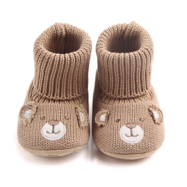 520cbe596 Baby Girls Cute Cartoon Bear Boots Winter Warm Baby Shoes Boys Kids ...