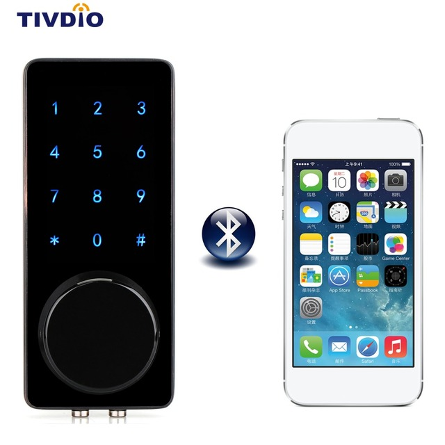 Smart Lock Bluetooth Door Lock Enabled Keyless Home Entry with ...