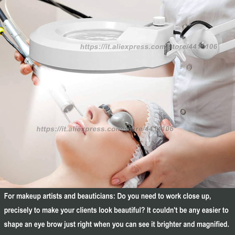 LED Floor Lamp LED Esthetician Light Magnifying Glass With Light Lighted Magnifier for Reading Adjustable Dimmable in Floor Lamps from Lights Lighting