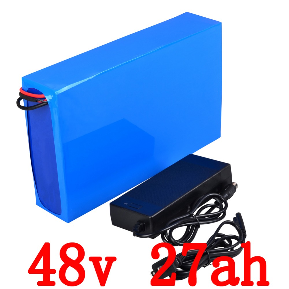 Free Customs Tax Battery <font><b>48v</b></font> 27ah 1800W for LG 18650 cell Lithium Battery <font><b>48v</b></font> with <font><b>2A</b></font> <font><b>Charger</b></font> 50A BMS e-Bike Battery <font><b>48v</b></font>