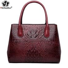 Fashion Crocodile Pattern Tote Bag High Quality Leather Handbag Female Large Capacity Tote Bag Women Big Shoulder Bag Sac A Main