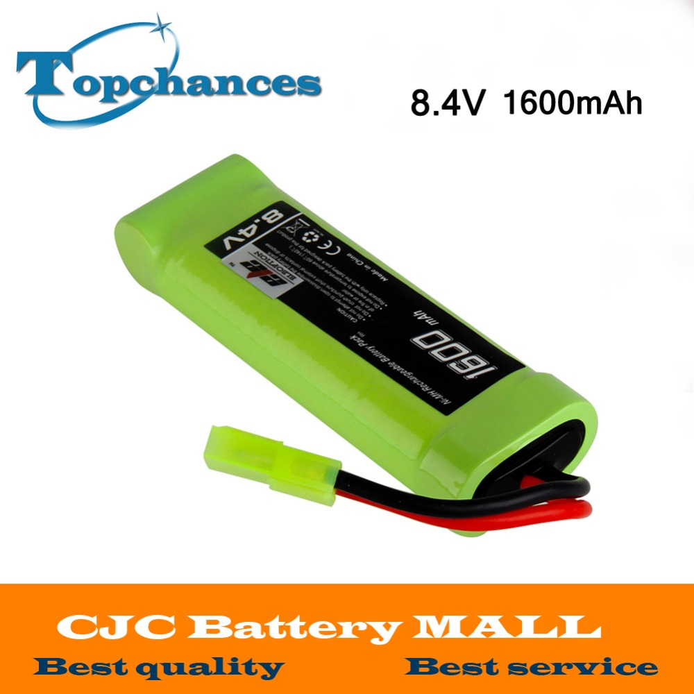 High Quality 8.4V 1600mAh Ni-MH Flat Battery Pack with Mini Tamiya Female Connector Assembled with 16G Wire image