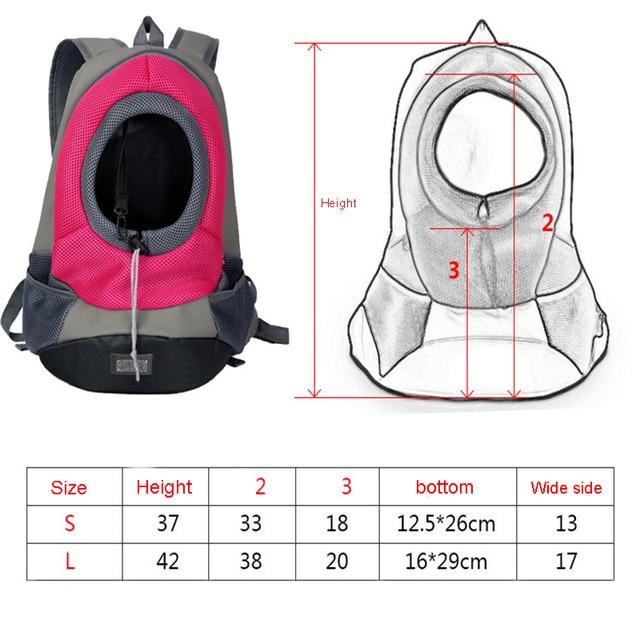 Outdoor Pet Dog Carrier Pet Backpack Bag Portable Travel Bag Pet Dog Front Bag Mesh Backpack Head Out Double Shoulder  1