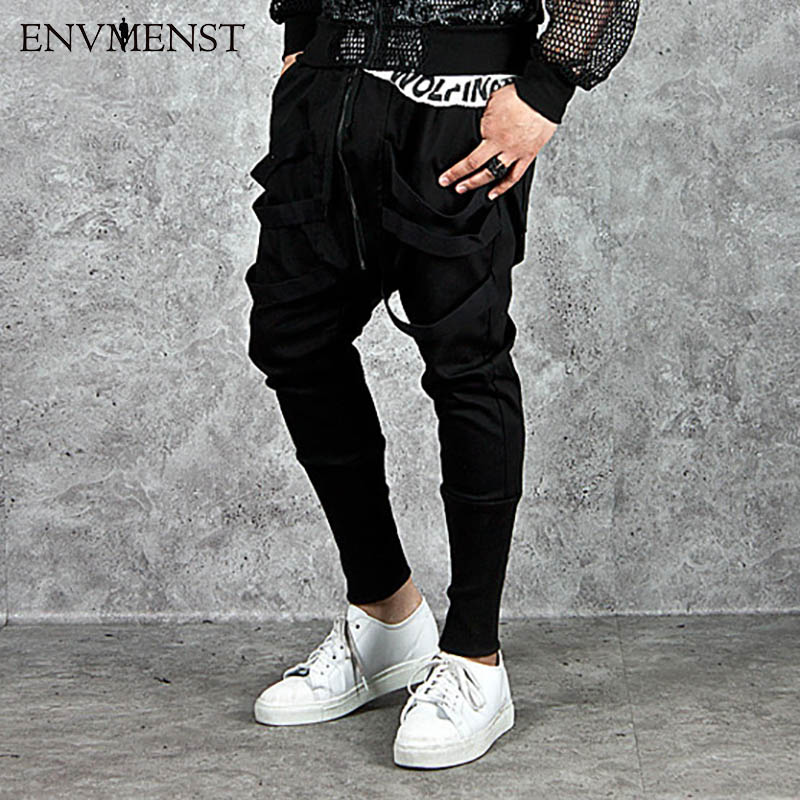 2017 New Dry Men's Denim Pants pocket Full Length Men Hip Hop joggers Pants Plus Size Trousers men belt Men streetwear EUR Size