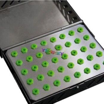 1Pc Dental Tool Implant Bur Drill Sterilization Cassette Kit Organizer Box New