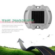 Открытый алюминиевый сплав Спайк дорожный сигнальный светильник вилла Пейзаж приводной светильник водонепроницаемый дорожный 6 светодиодный светильник на солнечной батарее