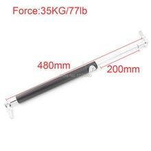 200mm Stroke 35KG/77lb Force Auto Gas Spring Strut Damper Spring M8 Gas Springs 480mm Gas Strut Shock Lift Prop for Automotive