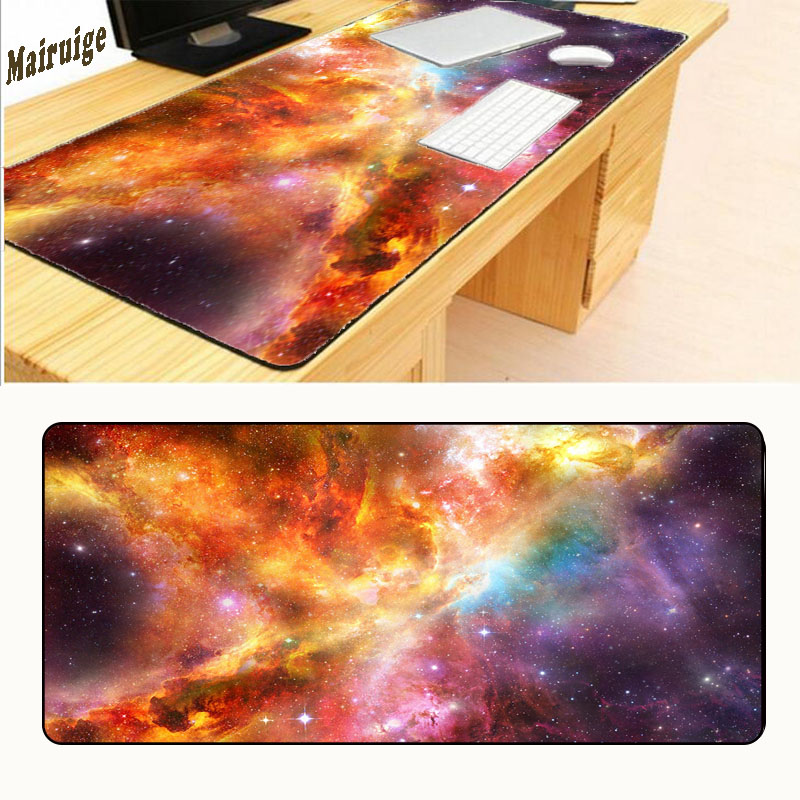Mairuige 900X400mm Big Gaming Mouse Pad Mousepad Space Star Non-slip Water Resistant Locking Extended Edge Laptop Computer