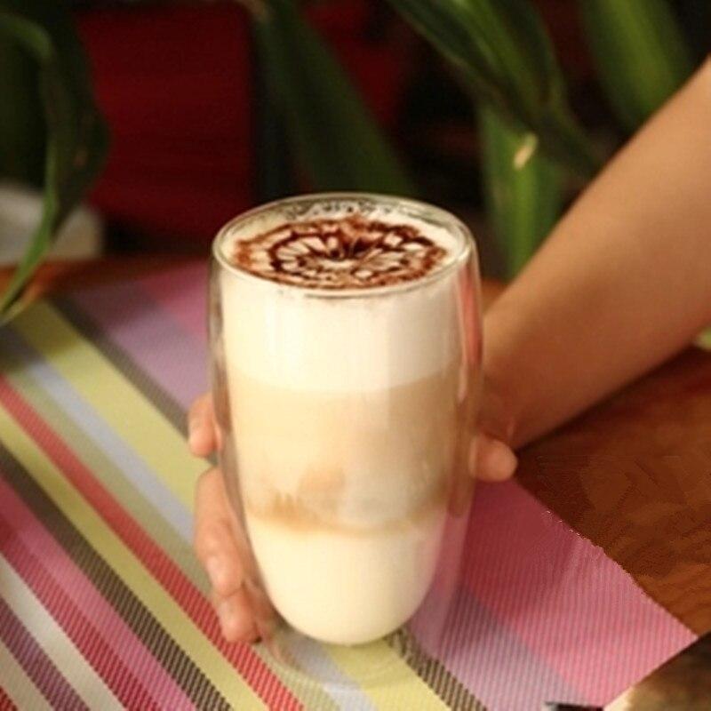 Wärme beständig Doppel Wand Glas Tasse Bier Kaffee Tasse Set Handgemachte Kreative Bier Becher Tee Tasse Whiskey Glas Tassen drink|Transparent| - AliExpress