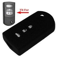 Бесплатная доставка 3 кнопка Силиконовый чехол ключ автомобиля дистанционного крышка для MAZDA 2 MAZDA 3 MAZDA 5 MAZDA 6, авто accessores С Логотипом