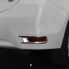Free Shipping High Quality ABS Chrome Rear Fog lamps cover Trim Fog lamp shade Trim For Toyota Corolla недорого