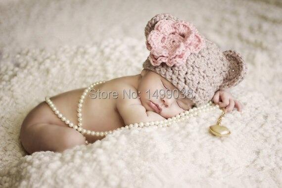 Малыш девушка цветок шляпа для новорожденных фотография опоры продвижение самый дешевый только 4 USD