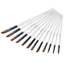 12pcs Nylon brush Hair Wooden Watercolor Painting Brush Pen Set small  water painter paint set Art items