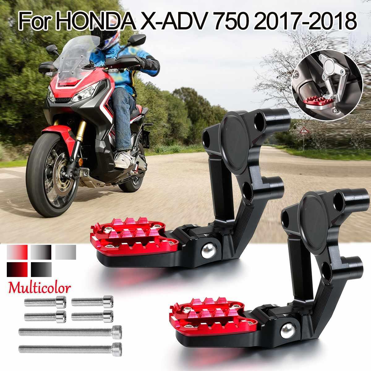 Motorcycle CNC Aluminum Rear Foot Set Footrest Foot Pegs Pedal Passenger Rearsets For HONDA X-ADV XADV X ADV 750 2017 2018