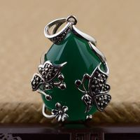 S925 wholesale silver inlaid exquisite natural pendant butterfly shape new adopters