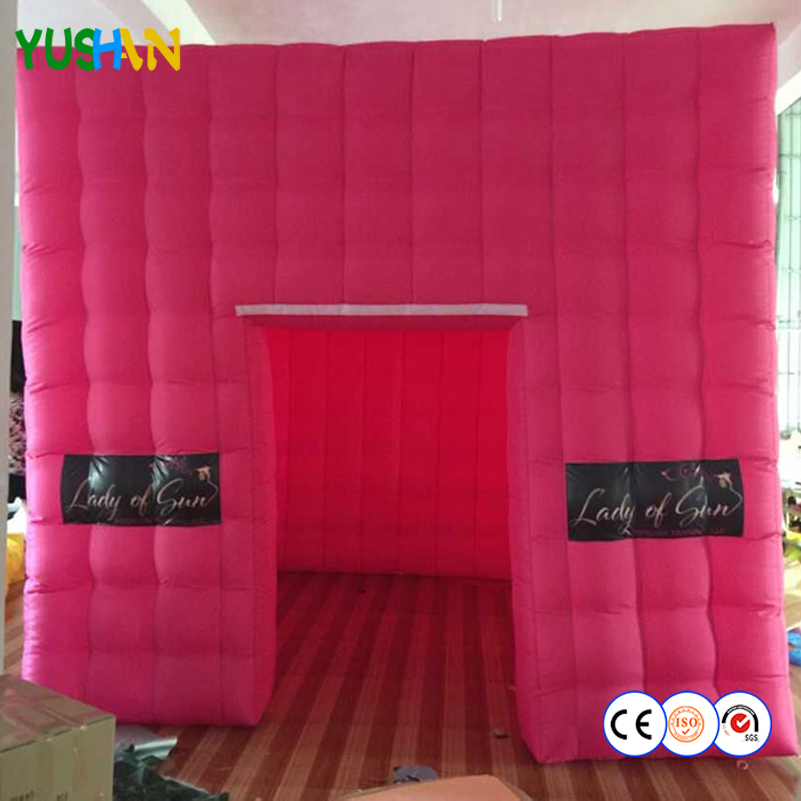 Us 911 6 12ft 9ft Diy Rose Color Inflatable Wedding Photo Booth Backdrop Stand Logo Free Print Logo Inflatable Tent For Shopping Sales In Party