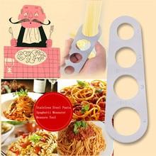 Серебряный точно и легко измеряет дозатор для макаронных изделий из нержавеющей стали Измеритель для спагетти измерения инструмент для кухни