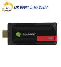 Новые 4 К обновления MK809IV или MK809III ТВ ключ stick android ТВ коробка RK3229 4 ядра 2 г 8 г 2 г 16 г Мини-ПК Wi-Fi Android Box 4 К