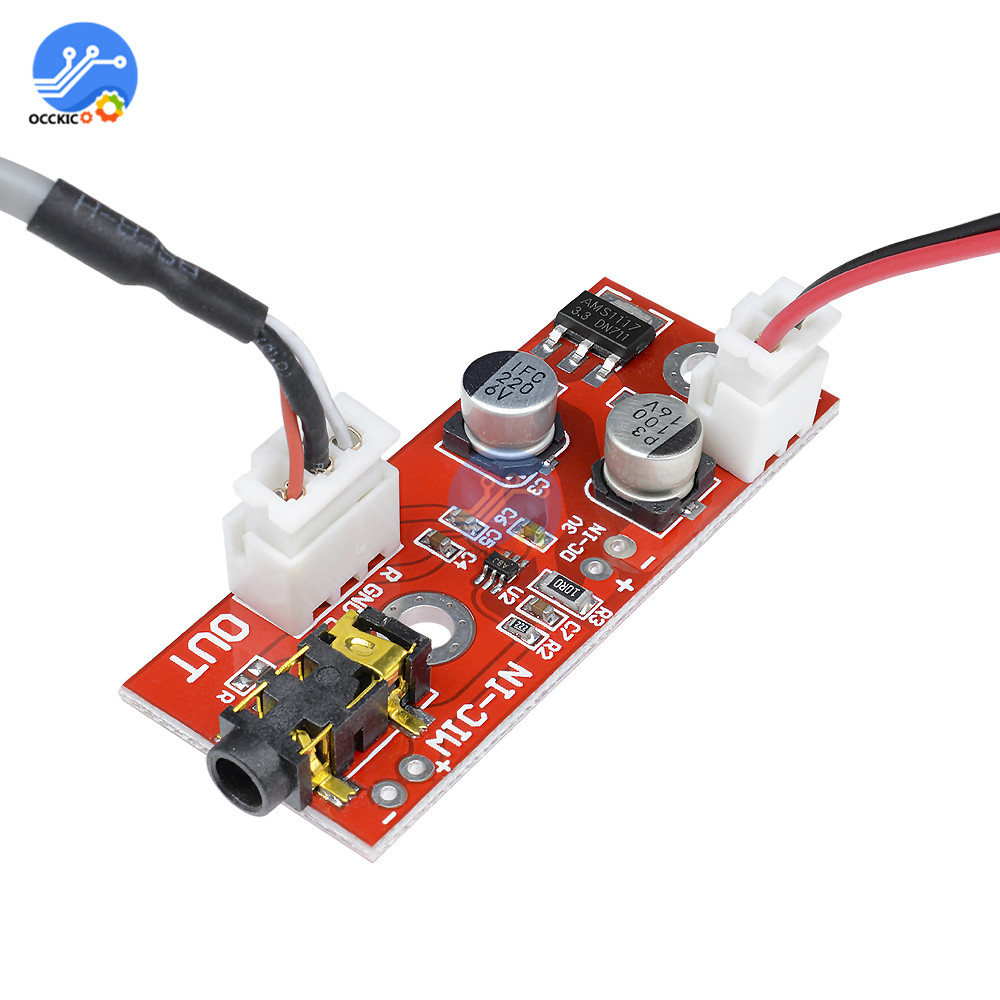 MAX9812 Microphone Amplifier Board Micro Speaker 3V/5V/12V Audio Voice Sound Board AMP DIY Electron Kit
