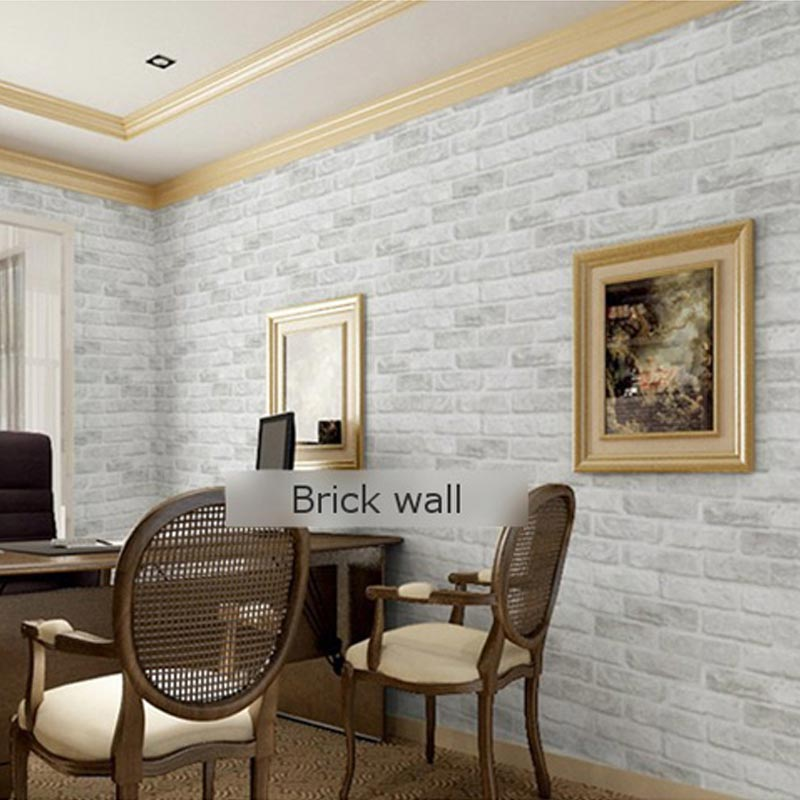 Aliexpress.com : Buy PVC Deep Embossed 3D Brick Wallpaper Modern Brick  Stone Pattern Paper Wallpaper Roll For Living Room Background Wall Covering  From ...