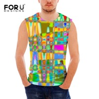 New Fashion Design Vests Mixed Color Printed Men S Tank Tops Breathable Summer Men S Vest