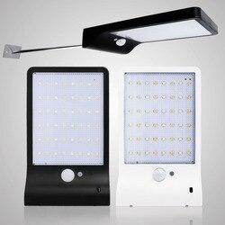 Solar Painel de Segurança Movido A Energia Solar Levou luz Do Jardim Ao Ar Livre Lâmpada IP65 Lampada de Parede Sensor de Movimento PIR À Prova D' Água Decorativos