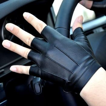 Бесплатная доставка, 2 пары, противоскользящие кожаные перчатки для вождения на весну, осень, лето