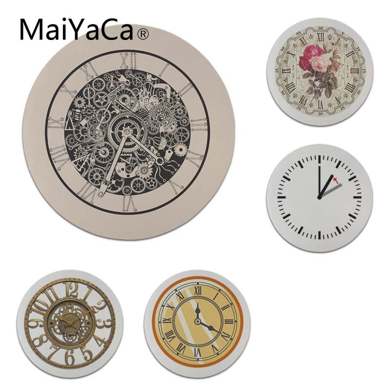 MaiYaCa Hot Sales Ancient Clocks Round Mouse pad PC Computer mat Size for 20x20cm 22x22cm Professional Gaming Mouse Pad