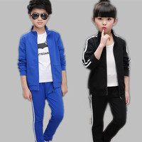 2017 Autumn Children Clothing Set for Girl Boy Sport Suit Kid Sportwear Tracksuit 2pcs/set for height 120 170cm