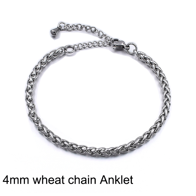 4mm Wheat Anklet