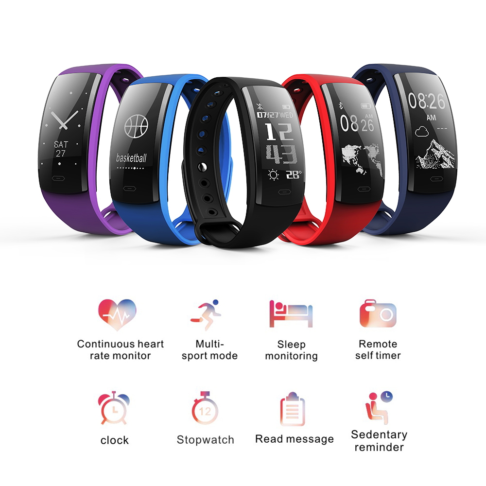 QS90 Blood Pressure Wristband Smart Bracelet Heart Rate Monitor Blood Oxygen Monitor IP67 Fitness Tracker For Andriod IOS Phones
