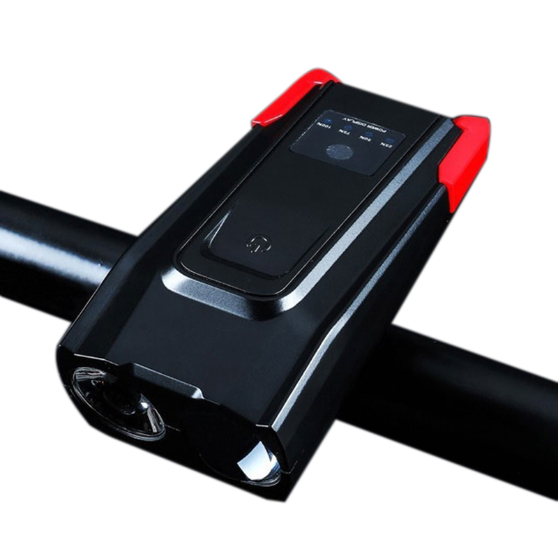Built-In 4000Mah Bicycle Light Sensor Intelligent <font><b>Flashlight</b></font> <font><b>For</b></font> <font><b>Bike</b></font> Accessore With Speaker Usb Charging Cycling Lamp image