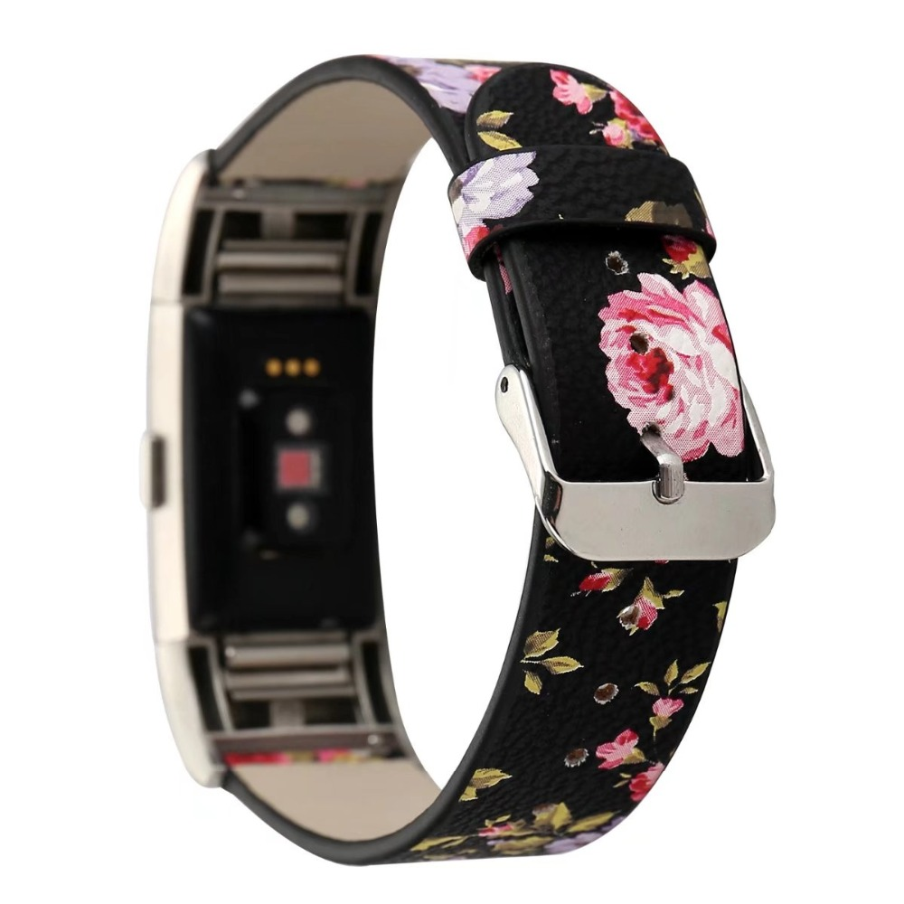 Ktab Smart Accessories Floral Fitbit Charge 2 Watch Band  Soft Leather Replacement Accessory Band  Wristband Strap for Fitbit бейсболк мужские