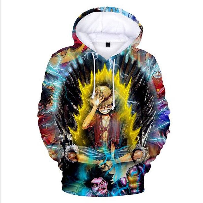 Anime Hoodie Men/Women Harajuku Sweatshirt Fall Winter Children Kids Boys/Girls one piece 3D Print Hip Hop Hoodie Funny Clothes
