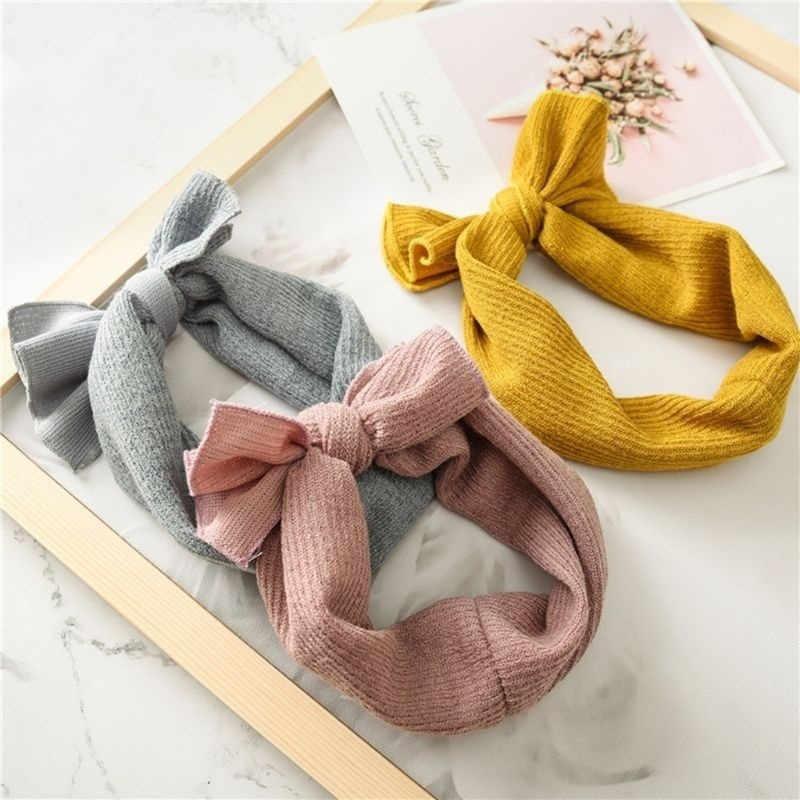 Accesorios para el pelo de la banda del pelo del turbante del bebé de las niñas PUDCOCO